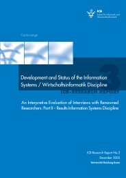 Development and Status of the Information Systems ...