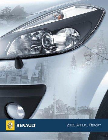 2005 ANNUAL REPORT - Renault