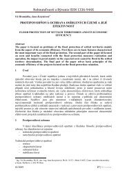 Protipovodňová ochrana osídlených území a její efektivnost