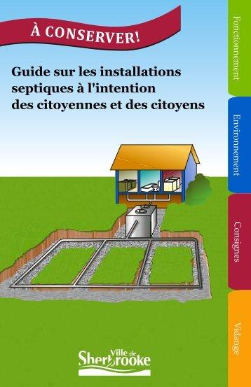 Guide sur les installations septiques à l'intention des citoyennes et ...