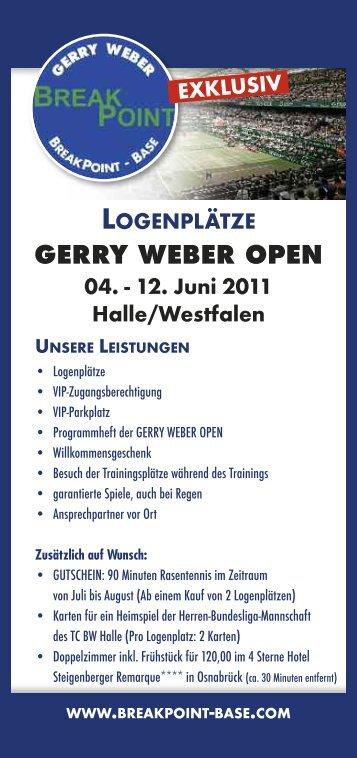 LOGENPLÄTZE GERRY WEBER OPEN 04. - 12. Juni 2011 ...