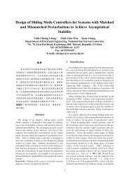 Design of Sliding Mode Controllers for Systems with Matched and ...