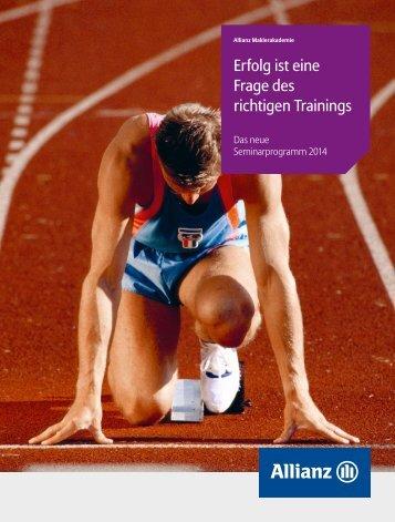 Broschüre Allianz Maklerakademie - Aloom