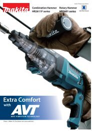 Extra Comfort with 3 - Makita
