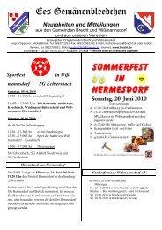 Sportfest in Wiß- mannsdorf SG Echtersbach - BRECHT.DE online