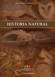 HISTORIA NATURAL - Fundación de Historia Natural Félix de Azara