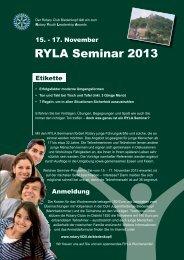 RYLA Seminar 2013 - Rotary Distrikt 1820