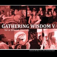 GATHERING WISDOM V - First Nations Health Council
