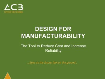 DESIGN FOR MANUFACTURABILITY - Hardware Conference