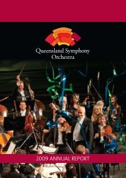 2009 Annual Report - Queensland Symphony Orchestra