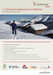 1. Schneeschuhplausch im Safiental - Surselva Info