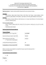 Minutes of the meeting held Wednesday 1 May 2013 - St Luke's ...
