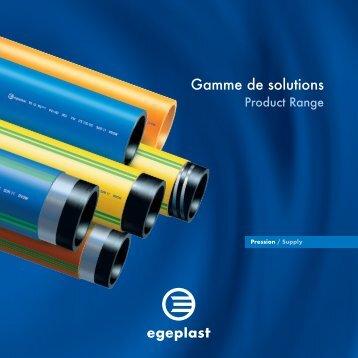 Gamme de solutions - Egeplast