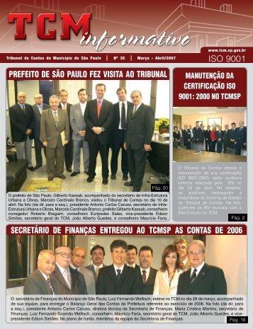 Mar/Abr - Tribunal de Contas do Município de São Paulo