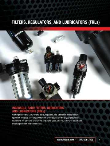 FILTERS, REGULATORS, AND LUBRICATORS - Pneumatic Tools ...