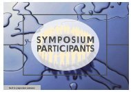 SYMPOSIUM PARTICIPANTS SYMPOSIUM PARTICIPANTS