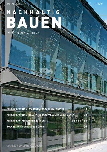 Nachhaltig Bauen im Kanton Zürich 3/2010 - Gerber Media