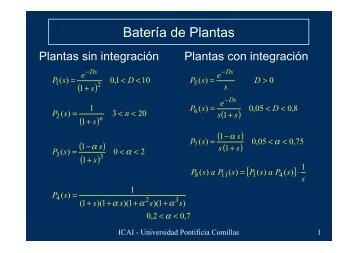 Batería de Plantas - Universidad Pontificia Comillas