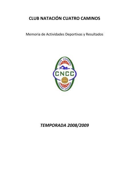 CLUB NATACIÓN CUATRO CAMINOS TEMPORADA 2008/2009