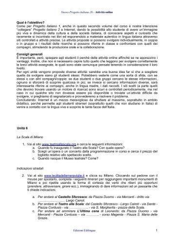 Nuovo Progetto italiano 2 - Attività online - Edilingua
