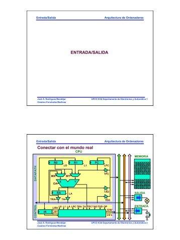 ENTRADA/SALIDA Conectar con el mundo real - Departamento de ...