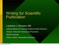 Writing for Publication - Network for Aboriginal Mental Health ...
