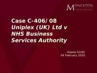 Case C-406/08 Uniplex (UK) Ltd v NHS Business ... - Olswang