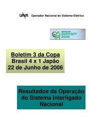 Boletim 3 da Copa Brasil 4 x 1 Japão 22 de Junho de 2006 ... - ONS
