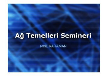 Network Analysis and TCP/IP_(2005 - Turkish)