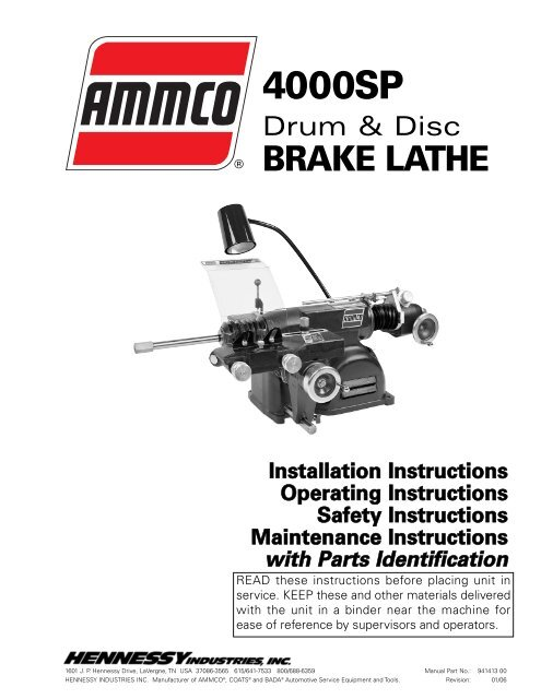 New Ammco 6936 Cross Feed Extension Brake Lathe Use Auto Shop Tool