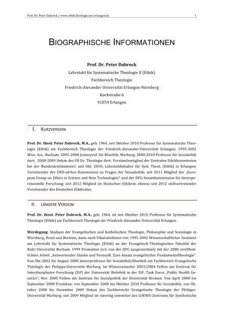 biographische informationen - Ethik.theologie.uni-erlangen.de ...