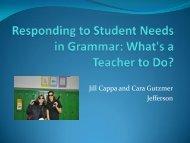 Responding to Student Needs in Grammar