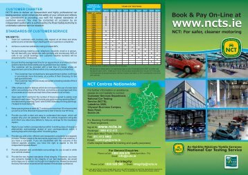 Preparing for your NCT - Road Safety Authority