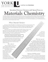 Materials Chemistry - Department of Chemistry, York University