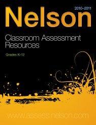 Classroom Assessment Catalogue 2010-2011.