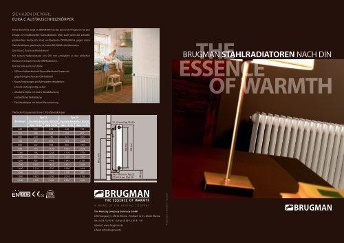 the essence of warmth - Brugman Radiatoren B.V.