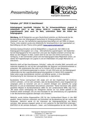 Pressemitteilung - Kolpingjugend - Kolpingwerk Deutschland