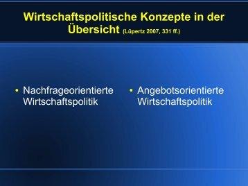 Wirtschaftspolitische Konzepte in der - Sw-cremer.de
