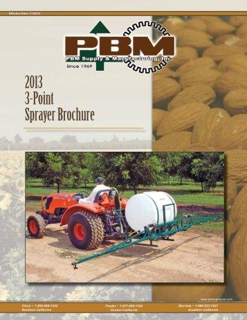 2013 3-Point Sprayer Brochure - PBM Supply & Mfg.