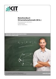 Modulhandbuch - Fakultät für Wirtschaftswissenschaften - KIT