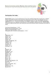 Participation Fee Index - BIMUN