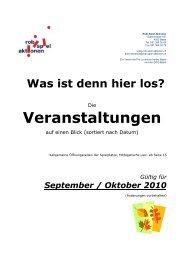 Gültig für September / Oktober 2010 - Robi-Spiel-Aktionen