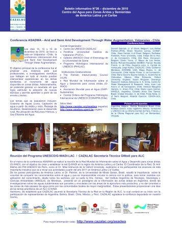 Boletín informativo N°26 – diciembre de 2010 Centro ... - CAZALAC