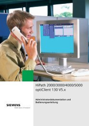 HiPath 2000/3000/4000/5000 optiClient 130 V5.x - Hexacom