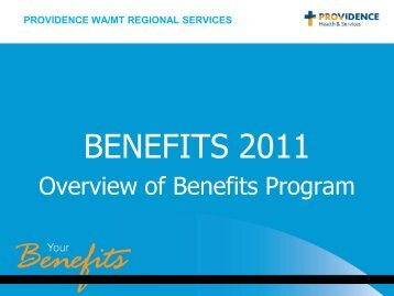 BENEFITS 2011 - Providence Health & Services logo