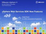 vSphere Web Services SDK New Features - VMware Communities