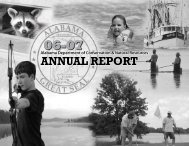 annual report - Alabama Department of Conservation and Natural ...
