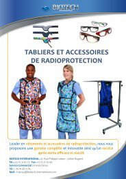 tabliers et accessoires de radioprotection - Biotech ortho