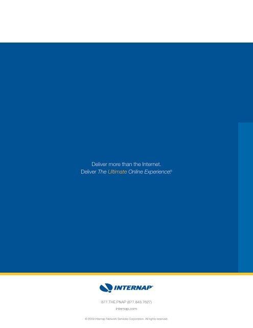 Master Brochure - Internap
