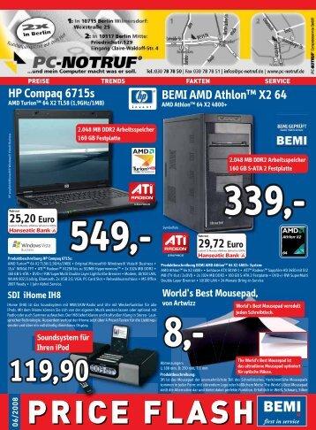 BEMI Computer Marketing GmbH - Price Flash 06/2008 - PC-Notruf